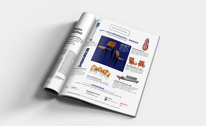 pages de publicité design